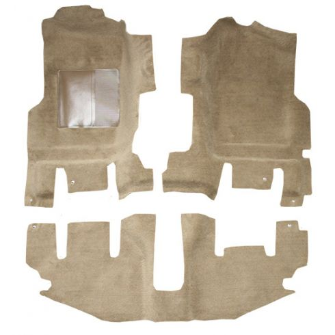 97-06 Jeep Wrangler Passenger Area Carpet 879A Dark Slate