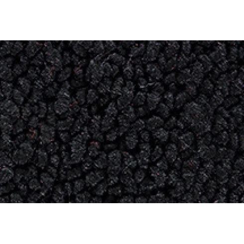 72-73 Dodge D300 Pickup Complete Carpet 01 Black