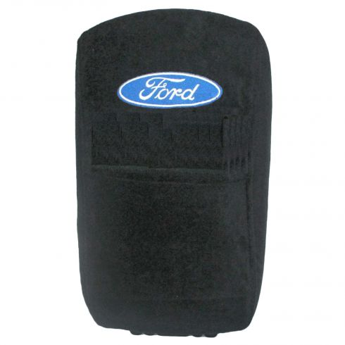 04-14 F150, F250SD-F550SD ~Ford~ Logoed ~Seat Armour~ Black Cotton Terry/Velour Console Cover (FD)