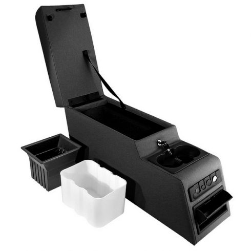 Ultimate Locking Console, Black, 76-95 Jeep CJ and Wrangler