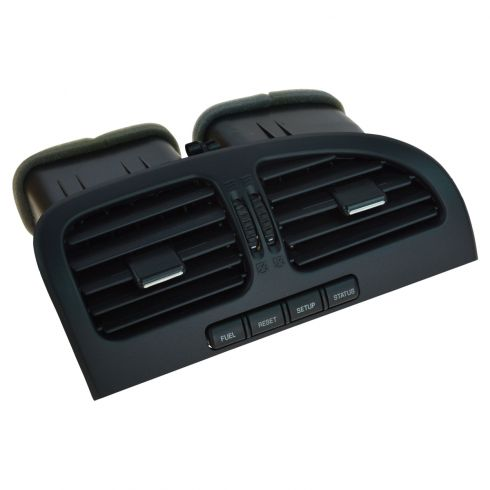 00-02 Lincoln LS Center Dash Mounted Dual Black Air Vent Louvre w/Push Button Message Center (Ford)