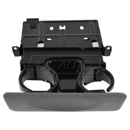99-01 Ford F250SD-F550SD; 00-01 Excursion Dash Mounted Graphite Gray Pull Out Dual Cup Holder (Ford)