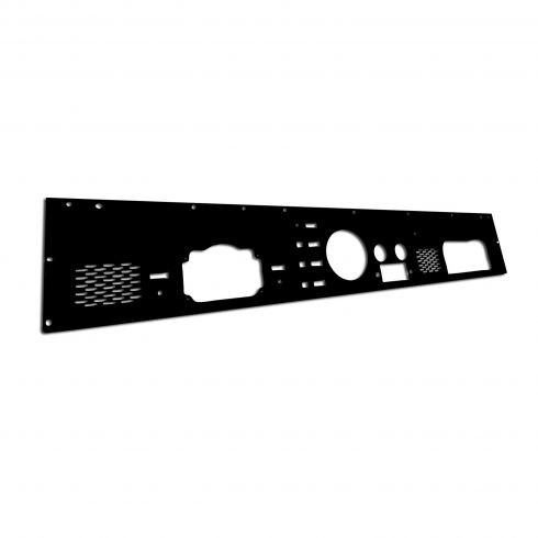 Dash Panel, Pre-Cut Holes, Black, 76-86 Jeep CJ Models