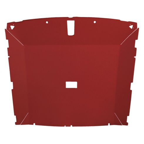 85-88 Mustang Htchbk (Dome Light 23.75 Inch) Cloth Red Solid Roof ABS Headliner