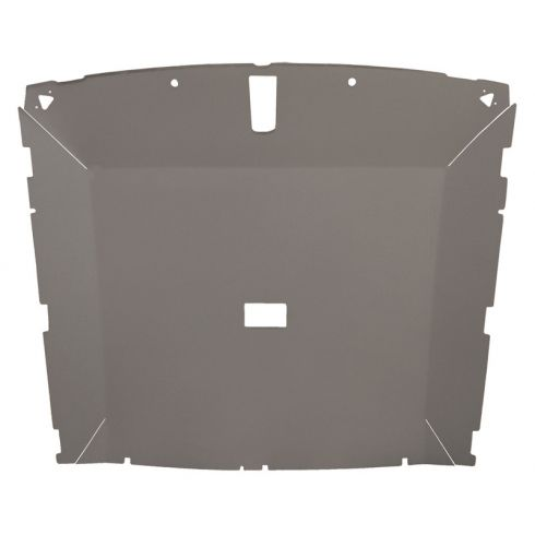 85-88 Mustang Htch (Dome Light 23.75 Inch) Cloth Lt Gray Solid Rf ABS Headliner