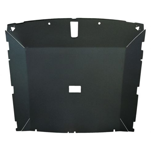 79-84 Mustang Htch (Dome Light 25.75 Inch) Tier Vinyl Black Solid Roof Headliner