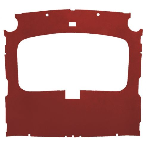 79-88 Ford Mustang Hatchback Foamback Cloth Red Factory Sunroof ABS Headliner