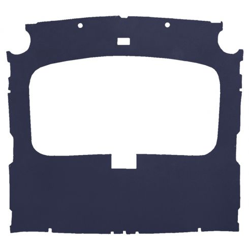 79-88 Mustang Hatchback Foamback Cloth Vry Dk Blue Factory Sunroof ABS Headliner