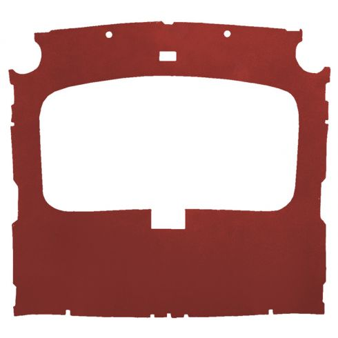 79-88 Ford Mustang Hatchback Cloth Canyon Red Factory Sunroof ABS Headliner