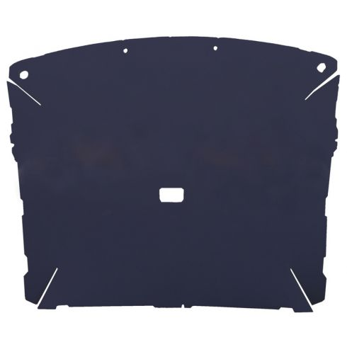 87-96 Ford F150, F250 Pickup Regular Cab Foamback Cloth Navy Blue ABS Headliner