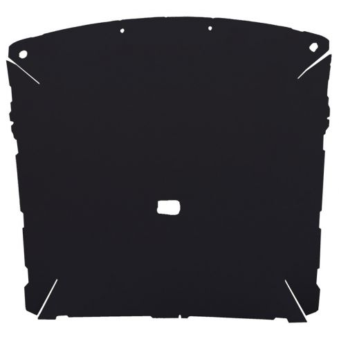 87-96 Ford F150, F250 Pickup Extended Cab Foamback Cloth Black ABS Headliner