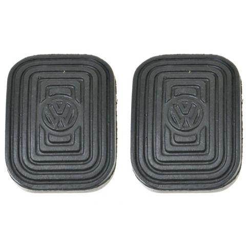 58-91 VW Beetle, Ghia, Thing, Type Transporter, Vanagon w/MT Clutch or Brake Pedal Pad SET