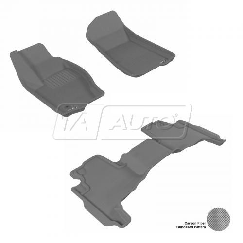 2005-10 Grand Cherokee, 06-10 Commander Gray Front & Rear Floor Liner Set