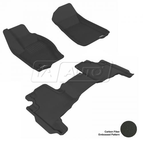 2005-10 Grand Cherokee, 06-10 Commander Black Front & Rear Floor Liner Set