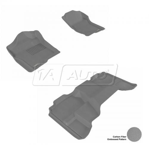 07-13 Chevy/GMC Full Size P/U Extended Cab Gray Front & Rear Floor Liner Set