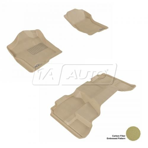 07-13 Chevy/GMC Full Size P/U Extended Cab Tan Front & Rear Floor Liner Set