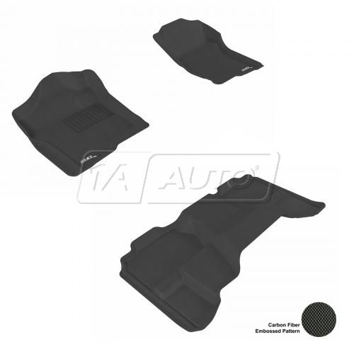 07-13 Chevy/GMC Full Size P/U Extended Cab Black Front & Rear Floor Liner Set