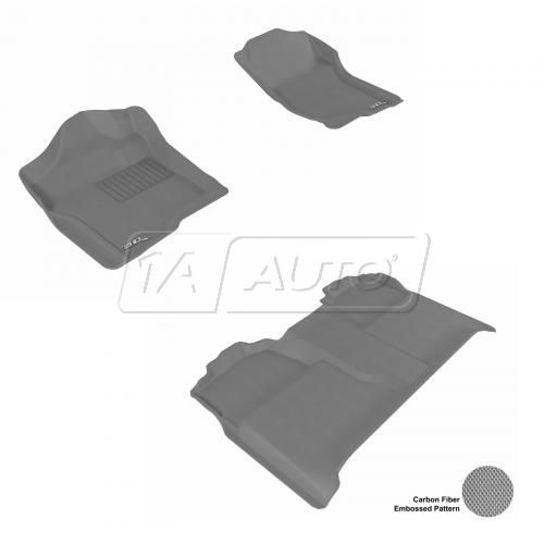 07-13 Chevy/GMC Full Size P/U Crew Cab Gray Front & Rear Floor Liner Set