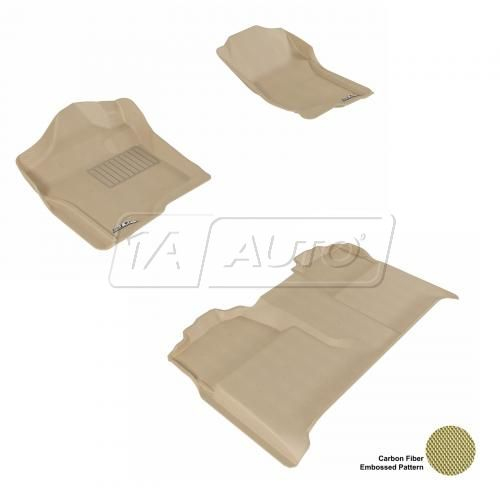 07-13 Chevy/GMC Full Size P/U Crew Cab Tan Front & Rear Floor Liner Set
