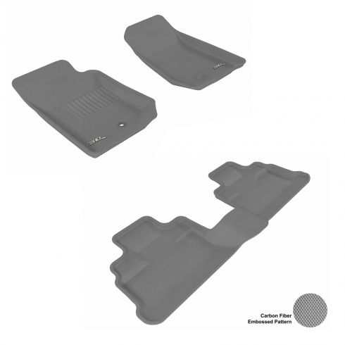 07-13 Jeep Wrangler Unlimited Gray Front & Rear Floor Liner Set