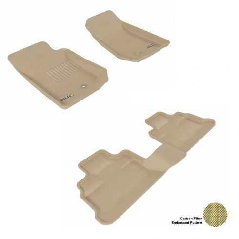 07-13 Jeep Wrangler Unlimited Tan Front & Rear Floor Liner Set