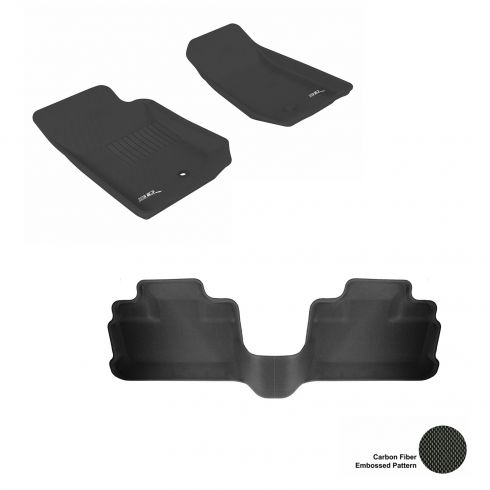 07-13 Jeep Wrangler Unlimited Black Front & Rear Floor Liner Set
