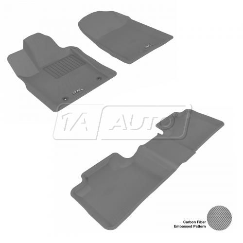 11-13 Jeep Grand Cherokee, Dodge Durango Gray Front & Rear Floor Liner Set