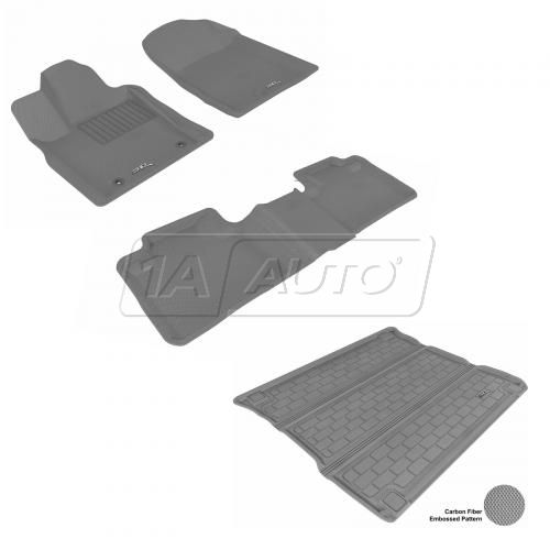 11-13 Jeep Grand Cherokee, Dodge Durango Gray Front, Rear, and Cargo Floor Liner Set