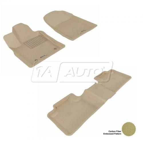 11-13 Jeep Grand Cherokee, Dodge Durango Tan Front & Rear Floor Liner Set