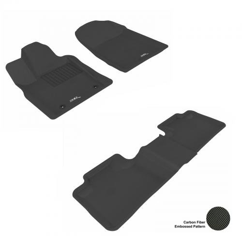 11-13 Jeep Grand Cherokee, Dodge Durango Black Front & Rear Floor Liner Set