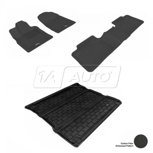11-13 Jeep Grand Cherokee, Dodge Durango Black Front, Rear, and Cargo Floor Liner Set