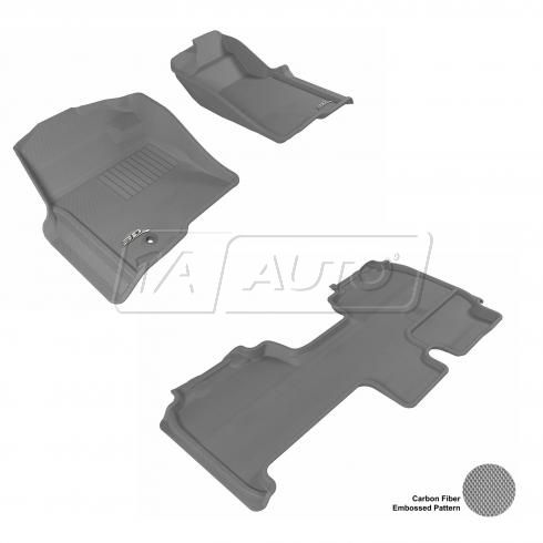 09+ Ford F150 Super Cab Gray Front & Rear Floor Liner Set