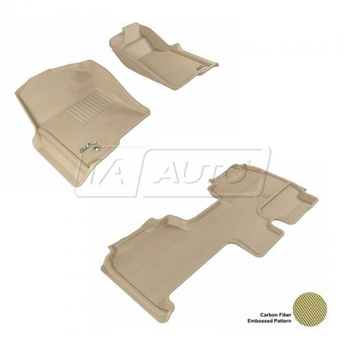 09+ Ford F150 Super Cab Tan Front & Rear Floor Liner Set