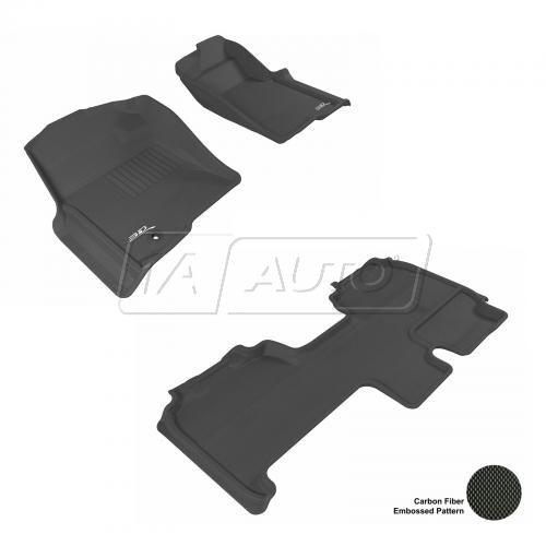 09+ Ford F150 Super Cab Black Front & Rear Floor Liner Set