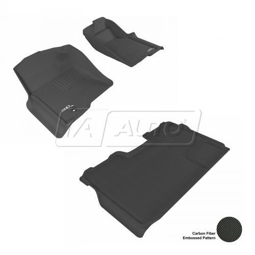 09-13 Ford F150 Super Crew Black Front & Rear Floor Liner Set
