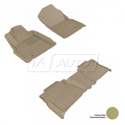 07-11 Toyota Tundra Double Cab Tan Front & Rear Floor Liner Set