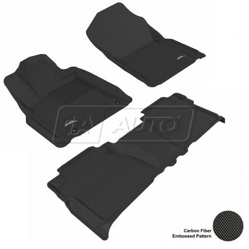 07-11 Toyota Tundra Double Cab Black Front & Rear Floor Liner Set