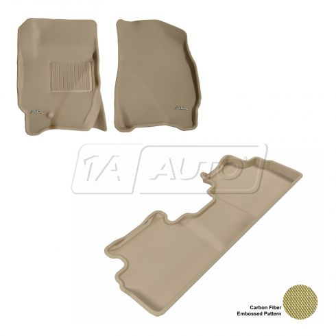 09-12 Escape/Tribute/Mariner Tan Front & Rear Floor Liner Set