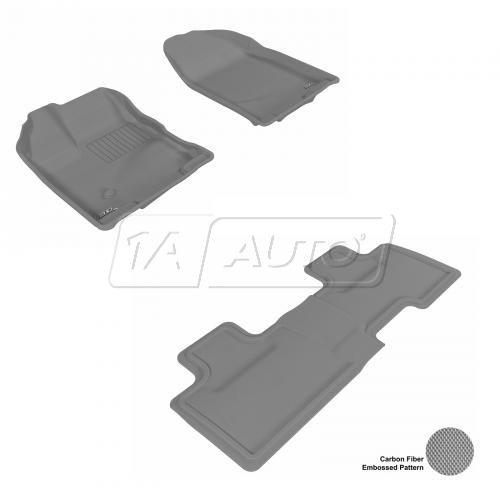 07-13 Ford Edge Gray Front & Rear Floor Liner Set