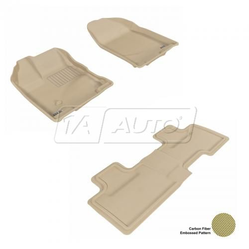 07-13 Ford Edge Tan Front & Rear Floor Liner Set
