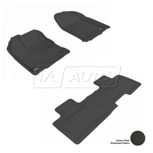 07-13 Ford Edge Black Front & Rear Floor Liner Set