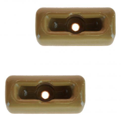 72 MB 350SL; 81-85 380SL; 81 380SLC; 73-80 450SL, 450SLC; 86-89 560SL Tan Sun Visor Clip PAIR
