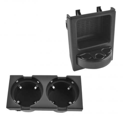 99-06 BMW 3 Series Center Console Mounted Cup Holder & Coin Holder Kit