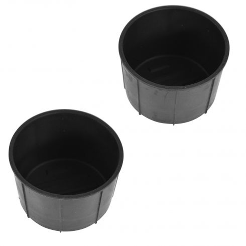 09-14 Ford F150 (w/Flow Through Console) Rear Console Mtd Black Rubber Cup Holder Insert Pair (Ford)