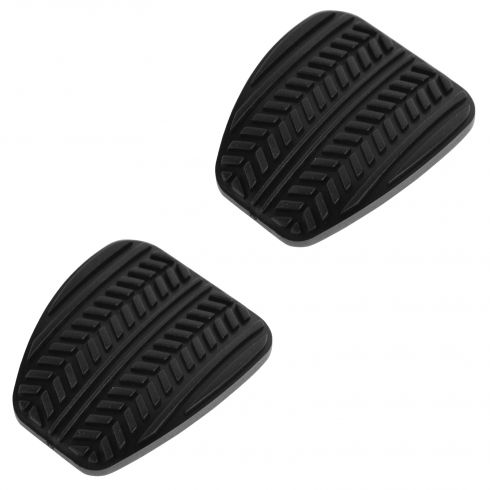 99-04 Ford Mustang w/MT Molded Black Rubber Clutch & Brake Pedal Pad Pair (Ford)