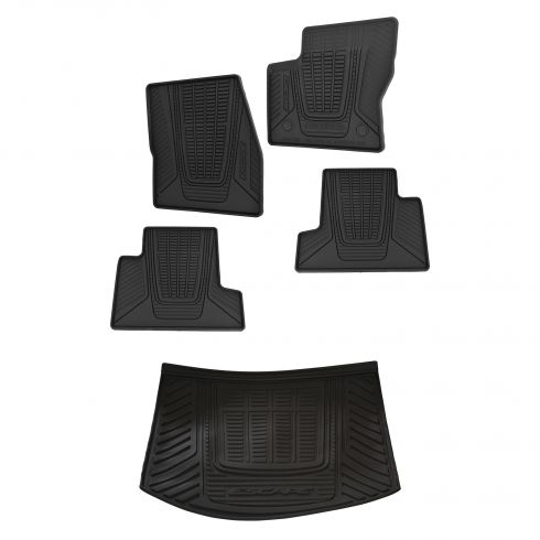 13-15 Ford Escape Front, Rear & Cargo Molded Black Rubber All Weather Floor Mat Kit(Set of 5) (Ford)
