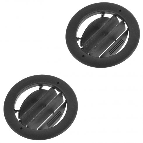 09 (fr 1-22-09)-14 E150-E450 Roof Mounted Black Air Vent AC/Heat Grille Louvre PAIR (Ford)