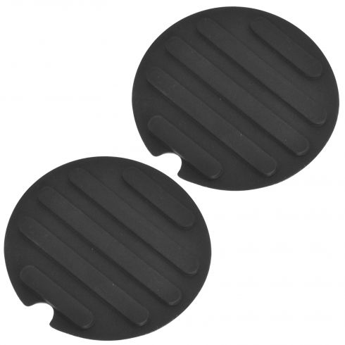 07-14 Edge; 02-05 Explr, Mntaineer; 07-10 MKX Ctr Console Mtd Blk Cup Holder Mat Liner Pair (FD)