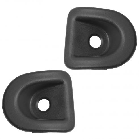 05-14 Ford Mustang Front Door Panel Mounted Black Door Lock Knob Grommet PAIR (Ford)