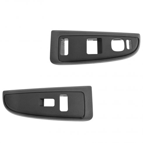 04-07 Silverado, Sierra Classic (Std, Ext Cab) Front Door Mtd Window Switch Pewter Bezel PAIR (GM)